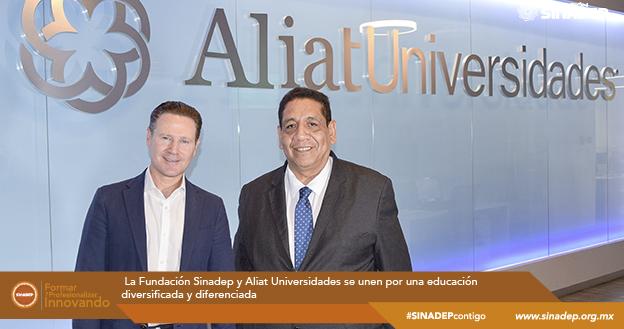 La Fundación Sinadep y Aliat Universidades se unen por una educación diversificada y diferenciada
