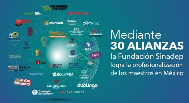 Mediante 30 alianzas, la Fundación Sinadep logra la profesionalización de los maestros en México