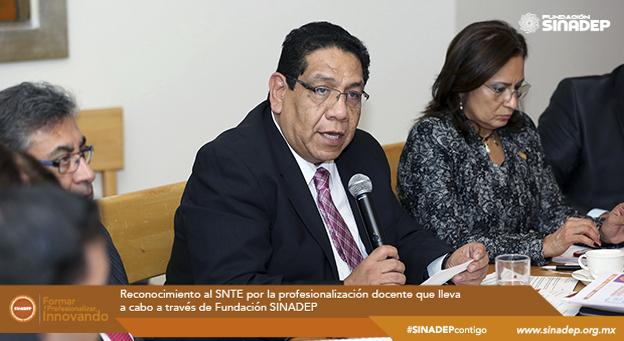 Reconocimiento al SNTE por la profesionalización docente que lleva a cabo a través de Fundación SINADEP