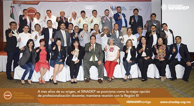 A 3 años de su origen, el SINADEP es la mejor opción de profesionalización docente; mantiene reunión con la Región III