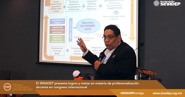 El SINADEP presenta logros y metas en materia de profesionalización docente en Congreso Internacional