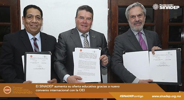 SINADEP aumenta su oferta educativa gracias a nuevo convenio internacional con la OEI